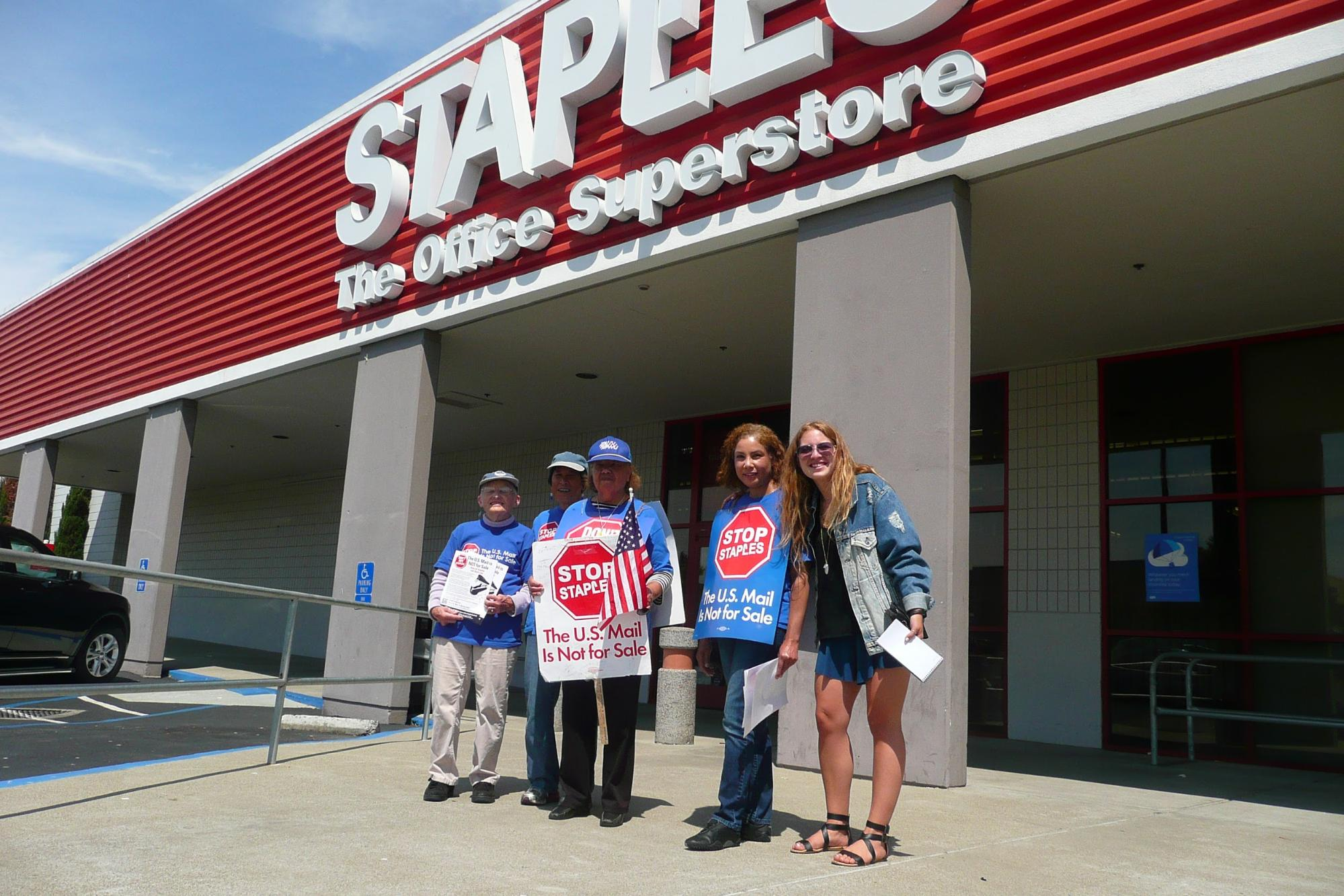Staples Protest